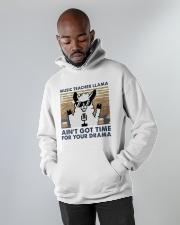 Music Teacher Lllama Hooded Sweatshirt apparel-hooded-sweatshirt-lifestyle-front-09