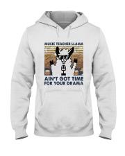Music Teacher Lllama Hooded Sweatshirt front