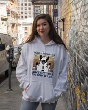 Music Teacher Lllama Hooded Sweatshirt lifestyle-unisex-hoodie-front-1