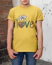 Flowers Love Sloths Classic T-Shirt apparel-classic-tshirt-lifestyle-31