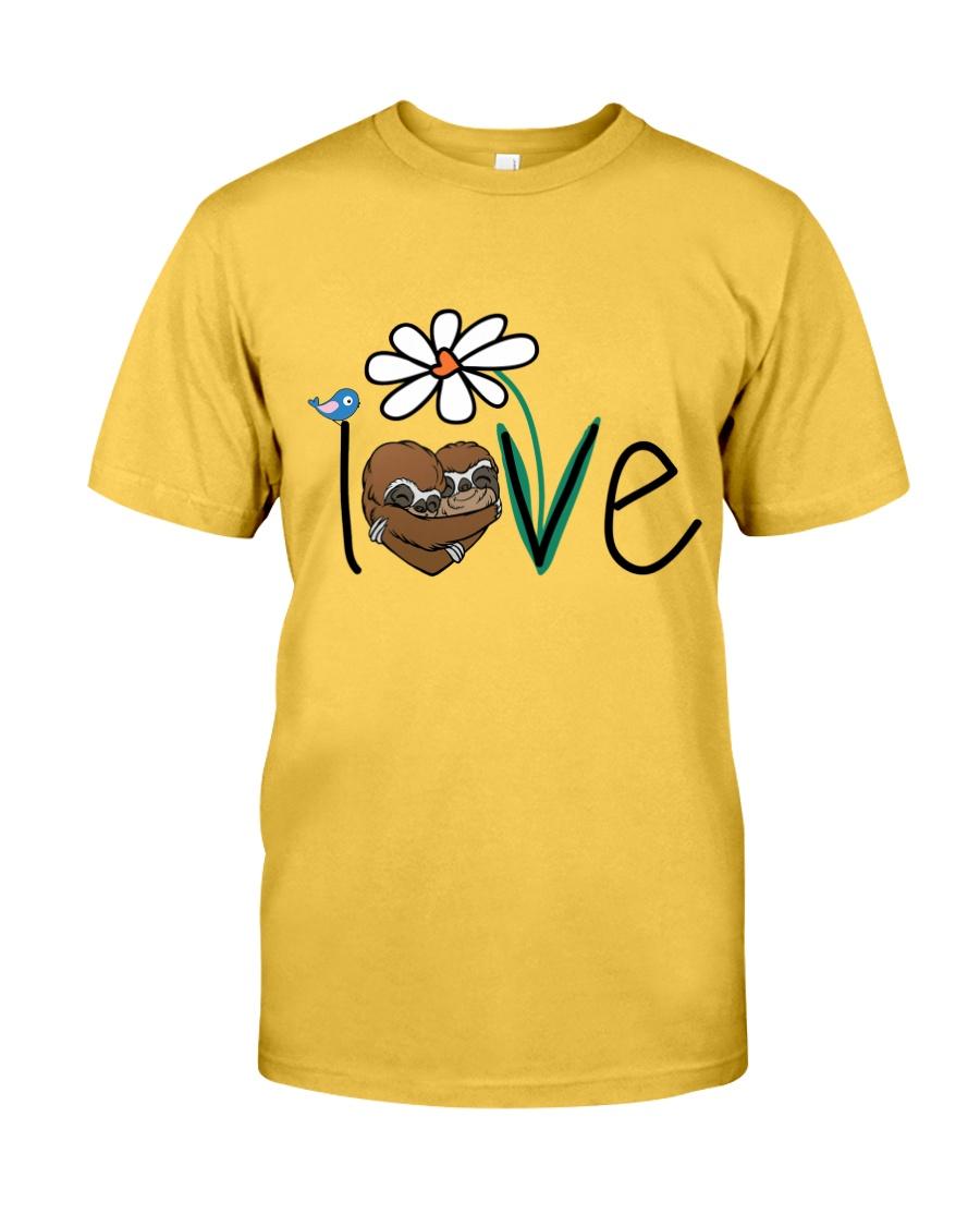 Flowers Love Sloths Classic T-Shirt