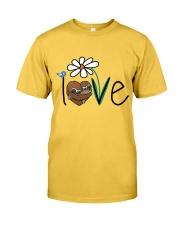 Flowers Love Sloths Classic T-Shirt front
