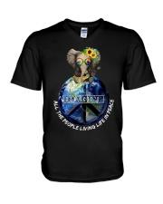 Imagine 1 V-Neck T-Shirt thumbnail