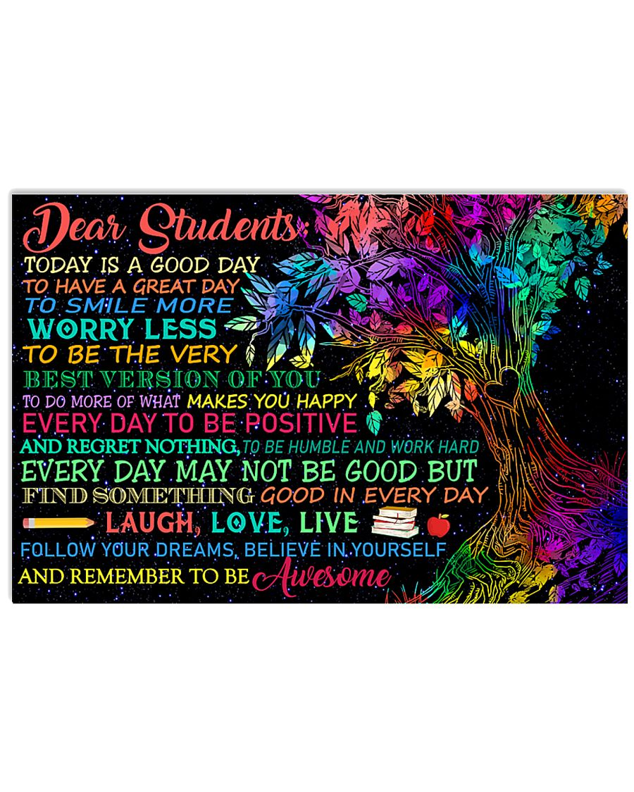 Dear Students 17x11 Poster