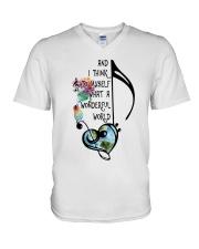 What A Wonderful World 4 V-Neck T-Shirt thumbnail
