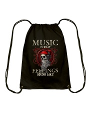 Feelings Sound Like Drawstring Bag tile