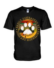CP-T-NA-2811195-Dogs And Mountains V-Neck T-Shirt thumbnail