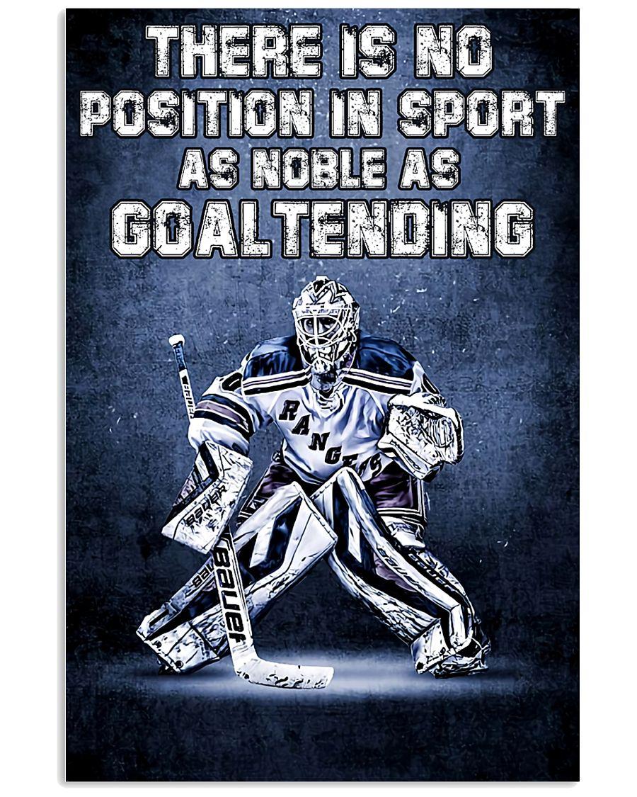 Goal Tending 11x17 Poster