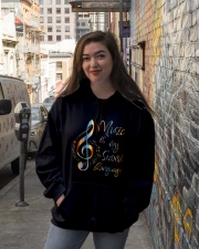 Music Is My Second Language Hooded Sweatshirt lifestyle-unisex-hoodie-front-1