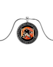 Believe In Yourself Metallic Circle Necklace front