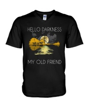 Hello Darkness - My Old Friend V-Neck T-Shirt thumbnail