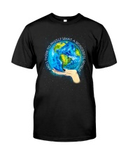 Myself What A Wonderful World Premium Fit Mens Tee thumbnail