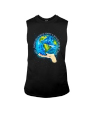 Myself What A Wonderful World Sleeveless Tee tile