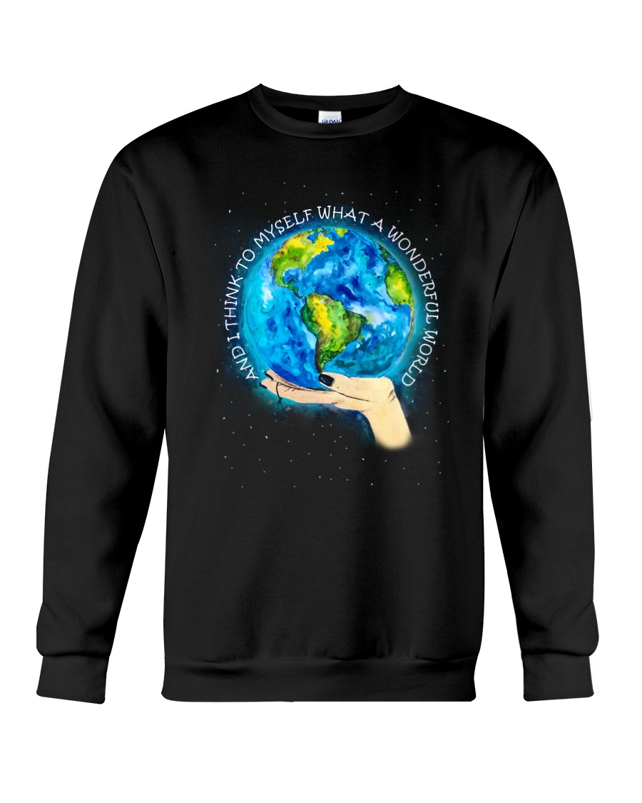 Myself What A Wonderful World Crewneck Sweatshirt