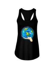 Myself What A Wonderful World Ladies Flowy Tank front