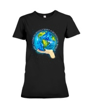 Myself What A Wonderful World Premium Fit Ladies Tee tile