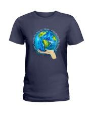 Myself What A Wonderful World Ladies T-Shirt front