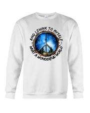 Myself What A Wonderful World 1 Crewneck Sweatshirt thumbnail
