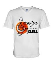 Here Comes Treble V-Neck T-Shirt thumbnail