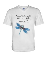 May You Touch Dragonflies V-Neck T-Shirt thumbnail
