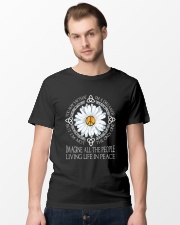 People Living Life In Peace Classic T-Shirt lifestyle-mens-crewneck-front-15