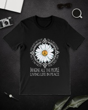 People Living Life In Peace Classic T-Shirt lifestyle-mens-crewneck-front-16
