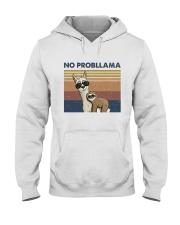 No Probllama Hooded Sweatshirt front