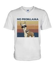 No Probllama V-Neck T-Shirt thumbnail