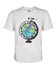 Be Kind In A World 3 V-Neck T-Shirt thumbnail
