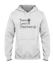 Peace Love Happiness Hooded Sweatshirt thumbnail