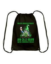 An Old Man Who Smokes Weed Drawstring Bag thumbnail
