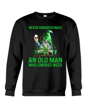 An Old Man Who Smokes Weed Crewneck Sweatshirt thumbnail