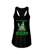 An Old Man Who Smokes Weed Ladies Flowy Tank thumbnail