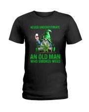 An Old Man Who Smokes Weed Ladies T-Shirt thumbnail