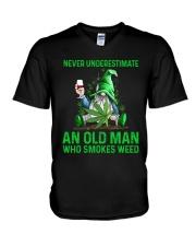 An Old Man Who Smokes Weed V-Neck T-Shirt thumbnail