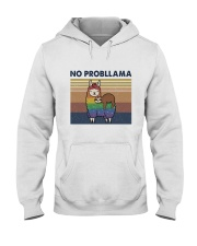 No Probllama Hooded Sweatshirt front