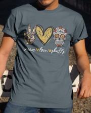 Peace Love Skulls Classic T-Shirt apparel-classic-tshirt-lifestyle-28