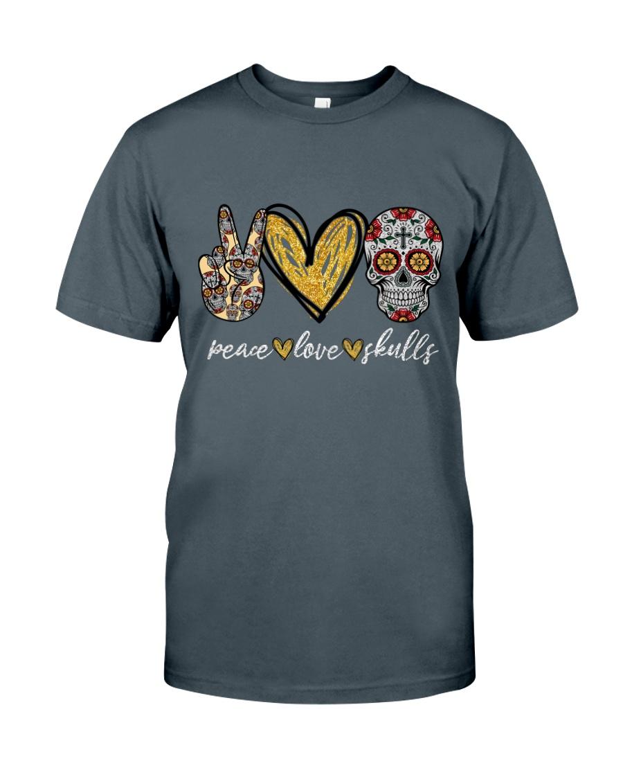 Peace Love Skulls Classic T-Shirt