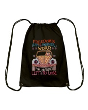 Freedom Is Just Another World Drawstring Bag thumbnail