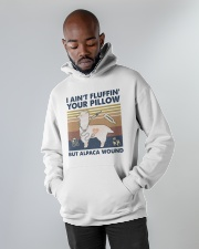 But Alpaca Wound Hooded Sweatshirt apparel-hooded-sweatshirt-lifestyle-front-09