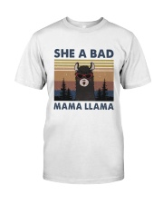 She A Bad Mama Llama Classic T-Shirt thumbnail