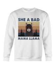 She A Bad Mama Llama Crewneck Sweatshirt thumbnail