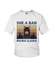 She A Bad Mama Llama Youth T-Shirt thumbnail