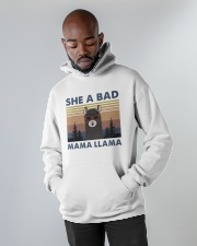 She A Bad Mama Llama Hooded Sweatshirt apparel-hooded-sweatshirt-lifestyle-front-09