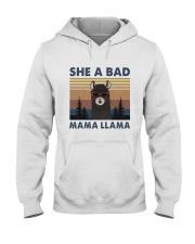 She A Bad Mama Llama Hooded Sweatshirt front