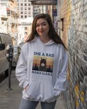 She A Bad Mama Llama Hooded Sweatshirt lifestyle-unisex-hoodie-front-1