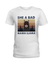 She A Bad Mama Llama Ladies T-Shirt thumbnail