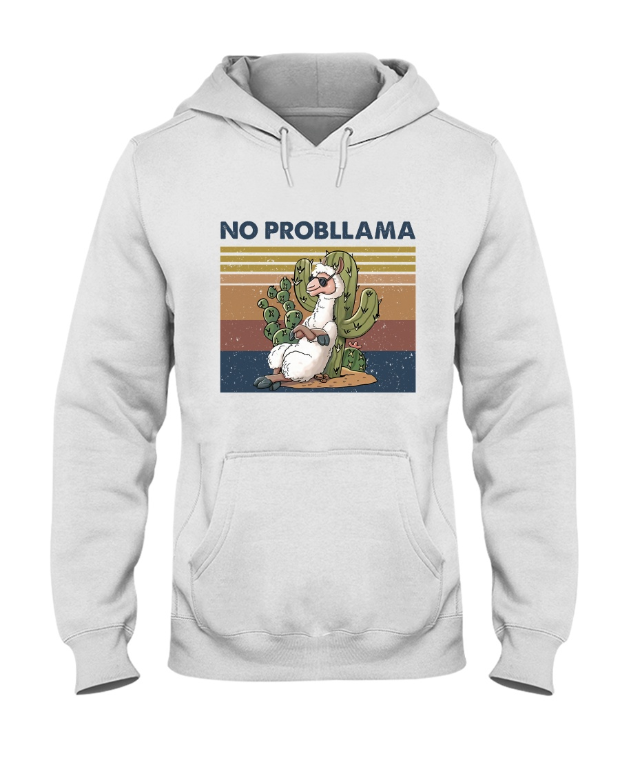 No Probllama Hooded Sweatshirt