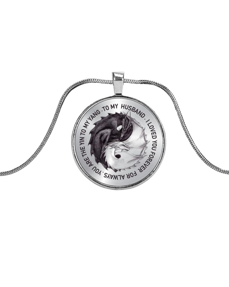 To My Husband Metallic Circle Necklace
