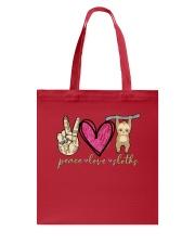 Peace Love Sloths Tote Bag thumbnail